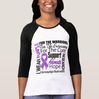 Cinta de la púrpura del desgaste del Fibromyalgia Remera