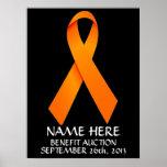 Cinta de la subasta de la ventaja de la leucemia poster