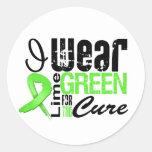 Cinta de la verde lima del desgaste del linfoma I  Etiqueta