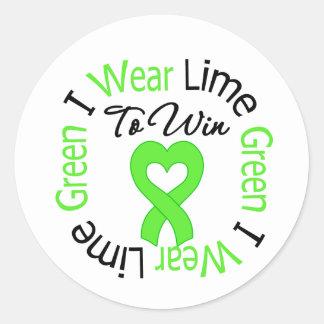 Cinta de la verde lima del desgaste del linfoma I Pegatina