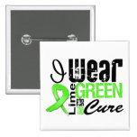 Cinta de la verde lima del desgaste del linfoma I  Pins