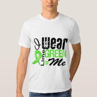Cinta de la verde lima del desgaste del linfoma I Polera