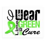 Cinta de la verde lima del desgaste del linfoma I  Postales