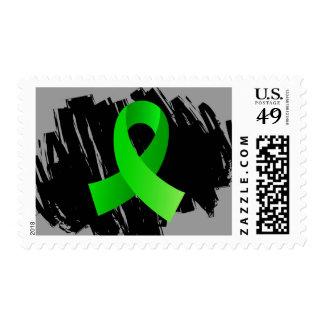 Cinta de la verde lima del linfoma con garabato