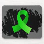 Cinta de la verde lima del linfoma con garabato tapete de ratones