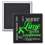 Cinta de la verde lima del linfoma para la concien imán de frigorifico