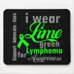 Cinta de la verde lima del linfoma para la concien tapete de ratón