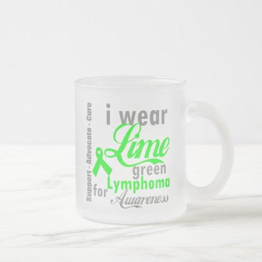 Cinta de la verde lima del linfoma para la concien taza