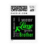 Cinta de la verde lima del linfoma para mi Brother Franqueo