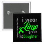 Cinta de la verde lima del linfoma para mi hija pin
