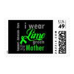Cinta de la verde lima del linfoma para mi madre franqueo