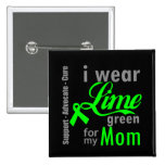 Cinta de la verde lima del linfoma para mi mamá pin
