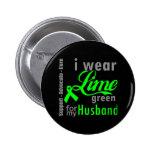 Cinta de la verde lima del linfoma para mi marido pin