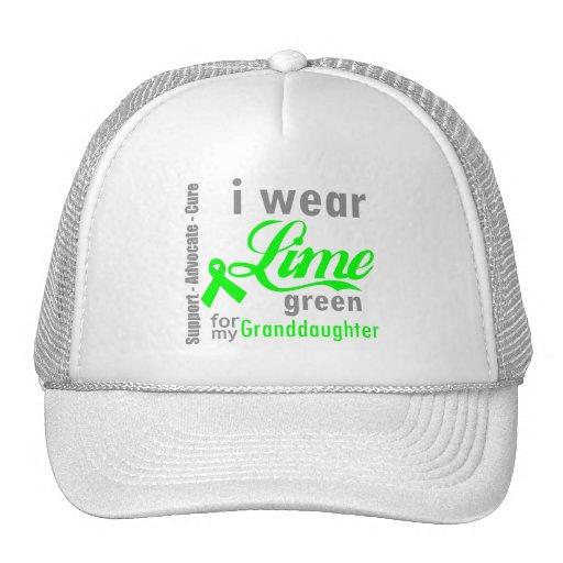 Cinta de la verde lima del linfoma para mi nieta gorro de camionero