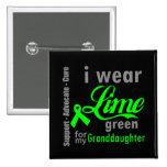 Cinta de la verde lima del linfoma para mi nieta pin