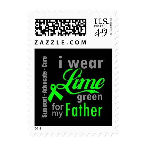 Cinta de la verde lima del linfoma para mi padre sellos