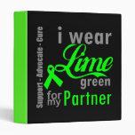 Cinta de la verde lima del linfoma para mi socio