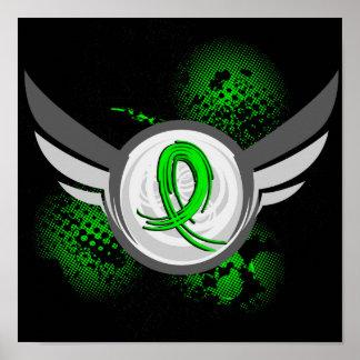 Cinta de la verde lima y linfoma Non-Hodgkin de la Impresiones