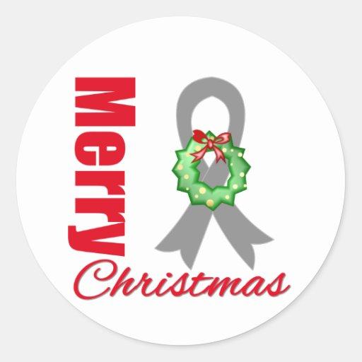 Cinta de las Felices Navidad de la conciencia del Pegatinas Redondas