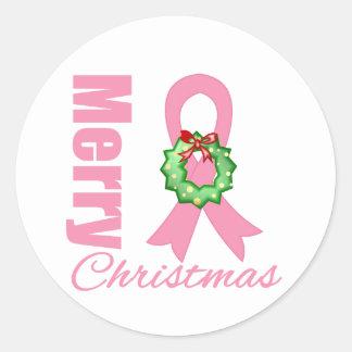 Cinta de las Felices Navidad de la conciencia del Pegatina Redonda