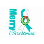 Cinta de las Felices Navidad de la conciencia del  Tarjeta Postal