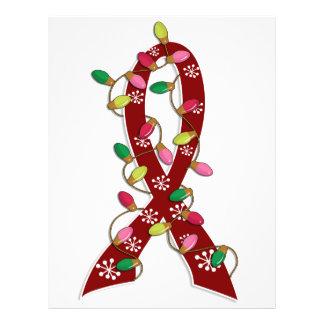 Cinta de las luces de navidad de la anemia de célu tarjeton