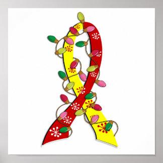 Cinta de las luces de navidad de la hepatitis C Impresiones