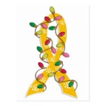Cinta de las luces de navidad del cáncer de la niñ tarjetas postales