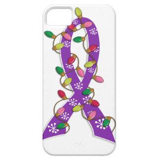 Cinta de las luces de navidad del cáncer iPhone 5 carcasa