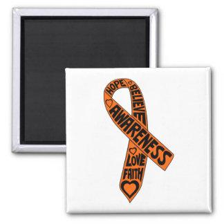 Cinta de los lemas de la esclerosis múltiple iman para frigorífico