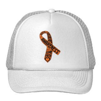Cinta de los lemas de la leucemia gorras