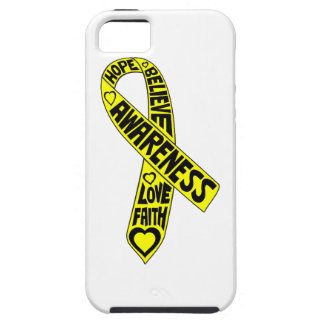 Cinta de los lemas del osteosarcoma iPhone 5 cárcasa