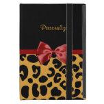 Cinta de moda del negro y del rojo del estampado l iPad mini funda