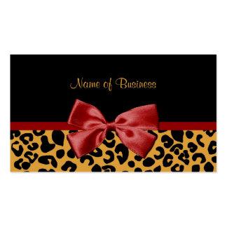 Cinta de moda del negro y del rojo del estampado l tarjeta personal