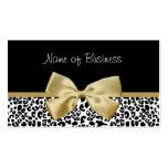 Cinta de moda del oro del estampado leopardo del tarjeta de visita