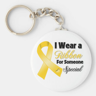 Cinta de Neuroblastoma alguien especial Llaveros Personalizados