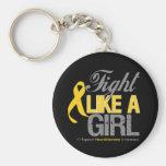Cinta de Neuroblastoma - lucha como un chica Llaveros Personalizados