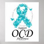 Cinta de OCD de mariposas Posters