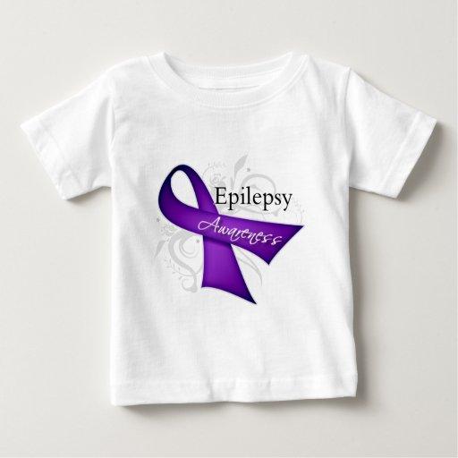 Cinta de voluta - conciencia de la epilepsia playeras