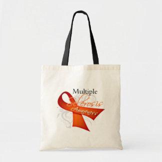 Cinta de voluta - conciencia de la esclerosis múlt bolsas de mano