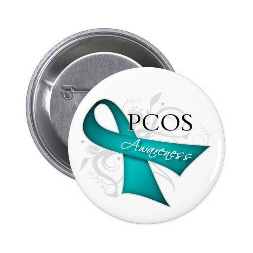 Cinta de voluta - conciencia de PCOS Pin