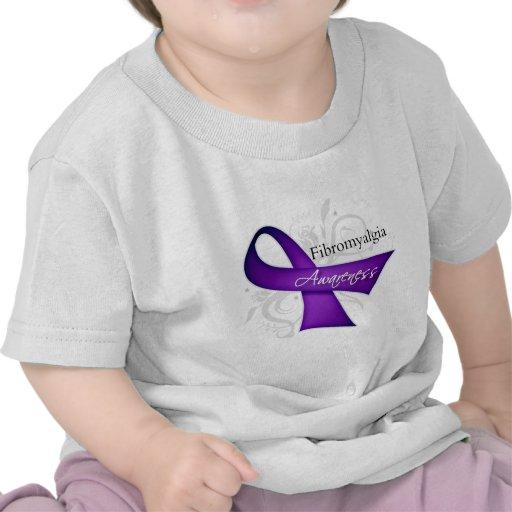 Cinta de voluta - conciencia del Fibromyalgia Camiseta