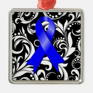 Cinta Deco del cáncer de colon Noir Ornamento De Navidad