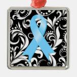 Cinta Deco del cáncer de próstata Noir Ornamento De Navidad