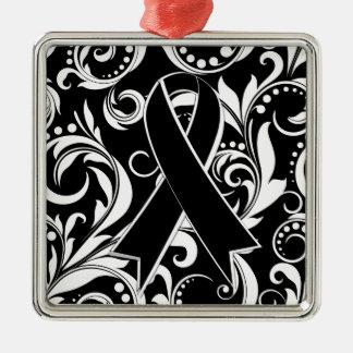Cinta Deco del cáncer del melanoma Noir Adornos De Navidad