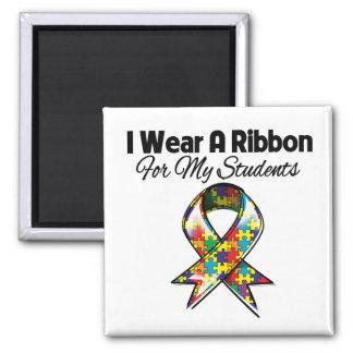 Cinta del autismo para mis estudiantes imán cuadrado