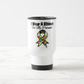 Cinta del autismo para mis pacientes tazas de café