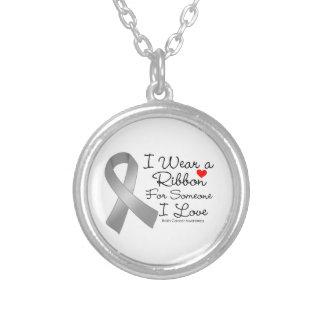 Cinta del cáncer de cerebro alguien amor de I Collar Personalizado