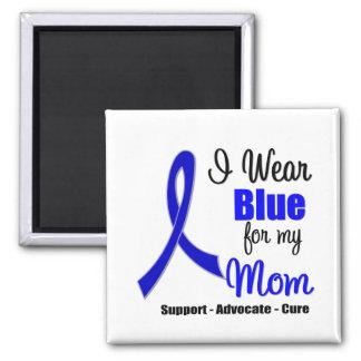 Cinta del cáncer de colon para mi mamá imán cuadrado