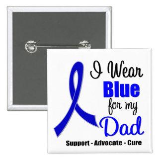 Cinta del cáncer de colon para mi papá pin cuadrado